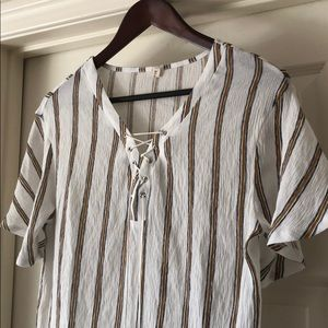 Tops - Striped Summer Blouse